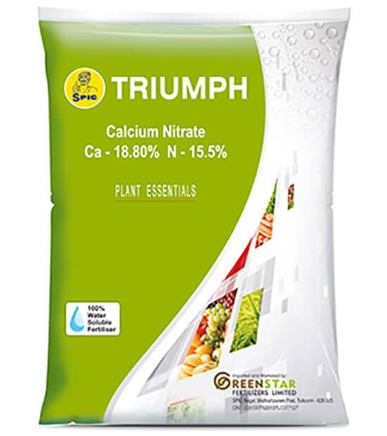 SPIC Triumph : Calcium Nitrate (Ca 18.80% N 15.5%)